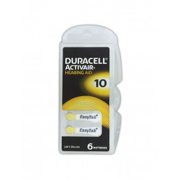 Duracell ActivAir 10 (PR70) Hearing Aid Battery Pack of 6