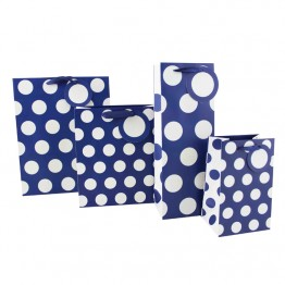 Polka Dot Navy Blue Bottle Bags
