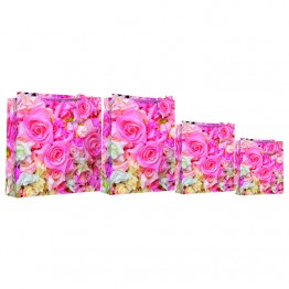Photo Rose Square Gift Bags Extra Large