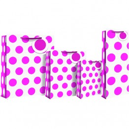 Polka Dot Pink Neon Bottle Bags