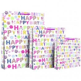 Happy Birthday Female Gift Bags Extra Large