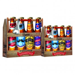 Beer Carry Gift Bags Square Large