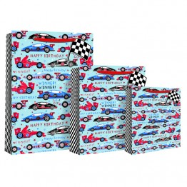 Racing Cars Happy Birthday Gift Bags Extra Large