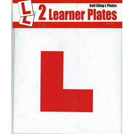 Self Cling L Plate, Pack of 2
