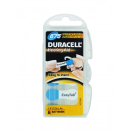 Duracell ActivAir 675 (PR44) Hearing Aid Battery Pack of 6