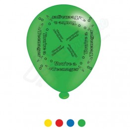 'Teenager' Unisex Birthday, 8 Latex Balloon