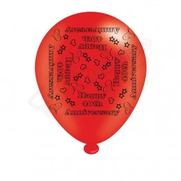 '40th Anniversary', 8 Latex Balloon