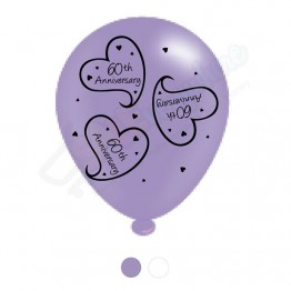 '60th Anniversary', 8 Latex Balloon