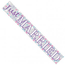 'Just Married', Foil Banner