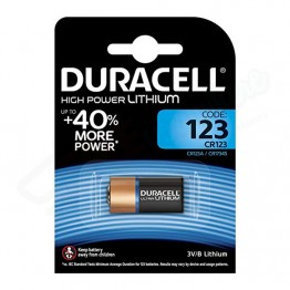 Duracell 3V High Power Lithium Battery CR123, Pack of 1 Carded