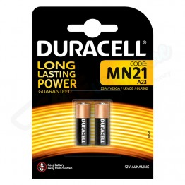 Duracell Long Lasting Power Battery A23 - MN21, Pack of 2 Carded
