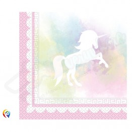 2 Ply Paper Napkins Pack of 20 Believe In Unicorn