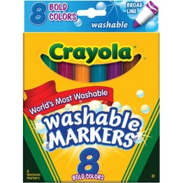 Crayola Broad Line Washable Markers, Pack of 8