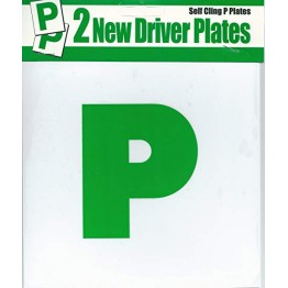 Self Cling P Plate, Pack of 2