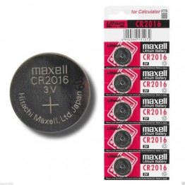 Maxwell Coin Battery CR2016, Pack of 5 Carded
