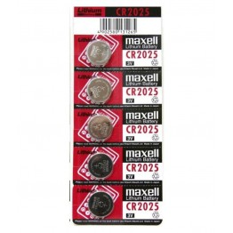 Maxwell Coin Battery CR2025, Pack of 5 Carded