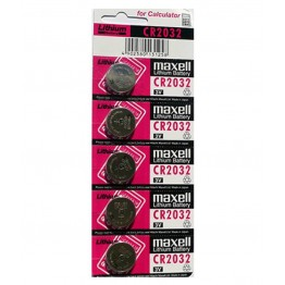 Maxwell Coin Battery CR2032, Pack of 5 Carded