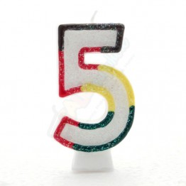 Number 5  Birthday Candles
