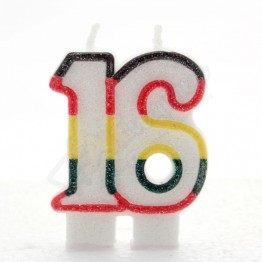 Number 16  Birthday Candles