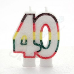 Number 40  Birthday Candles