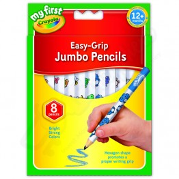 Crayola My Frist Easy Grip Jumbo Pencils, Pack of 8
