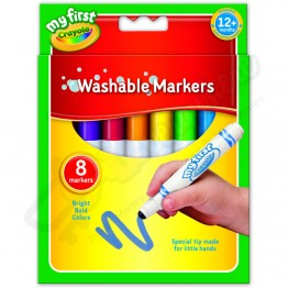 Crayola Ultra Clean Washable Large Crayons, Pack of 8