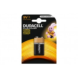 Duracell Plus Power Battery 9V, Pack of 1 Carded