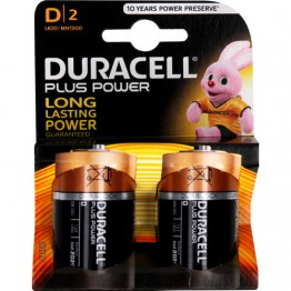 Duracell Plus Power Battery D, Pack of 2 Carded