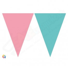9 Flags Triangle Banner Elegant