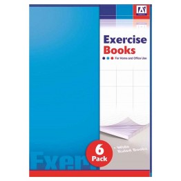 A* Exercise Book A5/C5, Pack of 6