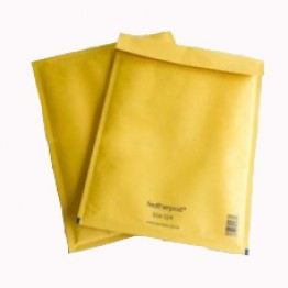 A/000 Featherpost Gold Bubble Envelopes 110 x 160mm - Box of 200