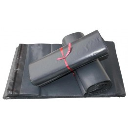 Grey Plain Recycled Poly Mail Bags 350 X 500mm - Box of 25