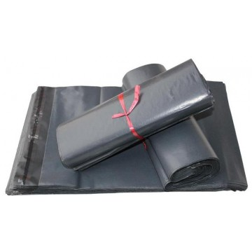 Grey Plain Recycled Poly Mail Bags 425 X 600mm - Box of 400