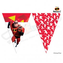 9 Flags Triangle Banner Incredibles 2