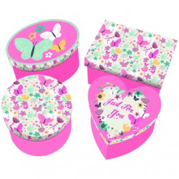 4pcs Floral Mini Gift Boxes