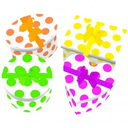 4pcs Neon Mini Gift Boxes
