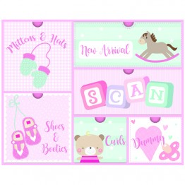 6pcs Baby Girl Keepsake Boxes