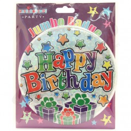 Happy Birthday Party Badges