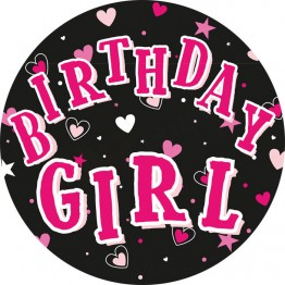 Birthday Girl Party Badges