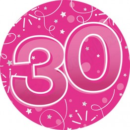Age 30, Female Party Badges