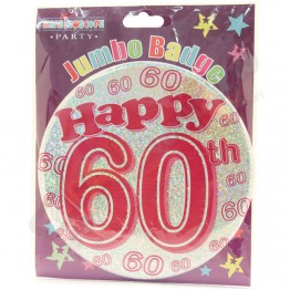 Age 60, Female Large Party Badges