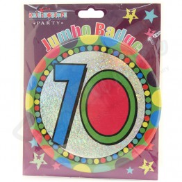Age 70, Unisex  Large Party Badges