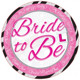 Bride to Be, Large Party Badges