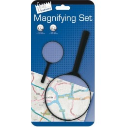 JS Magnifying Glass Black, Carded