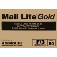 F/3 Mail Lite Gold / Brown Bubble Lined Envelopes 220 x 330mm - Box of 50
