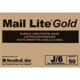 J/6 Mail Lite Gold / Brown Bubble Lined Envelopes 330 x 440mm - Box of 50