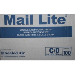 C/0 Mail Lite White Bubble Lined Envelopes 150 x 210mm - Box of 100