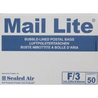 F/3 Mail Lite White Bubble Lined Envelopes 220 x 330mm - Box of 50