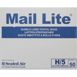H/5 Mail Lite White Bubble Lined Envelopes 270 x 360mm - Box of 50