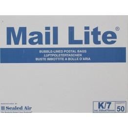 K/7 Mail Lite White Bubble Lined Envelopes 350 x 470mm - Box of 50